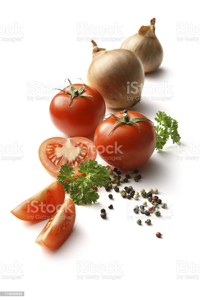 Flavouring: Tomato, Onion, Parsley and Pepper royalty-free stock photo