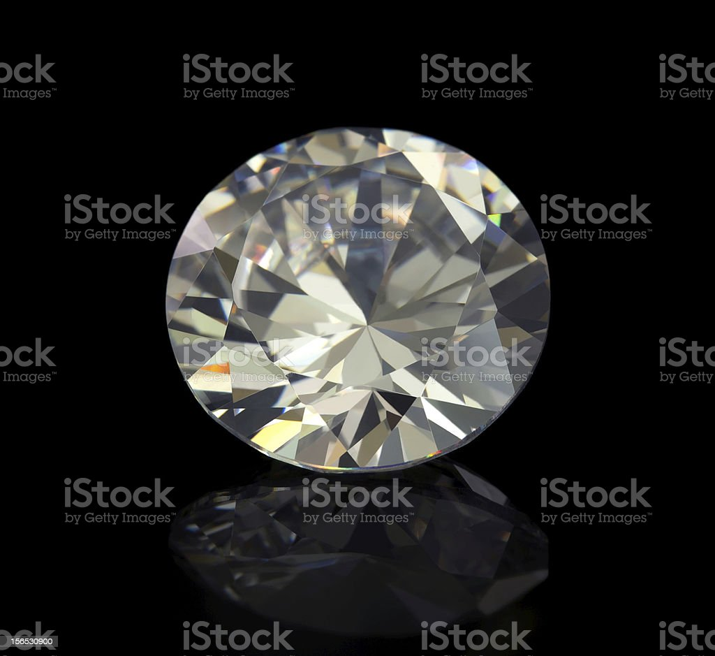 Flawless Diamond royalty-free stock photo