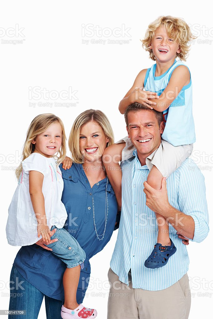 Flawless family royalty-free stock photo