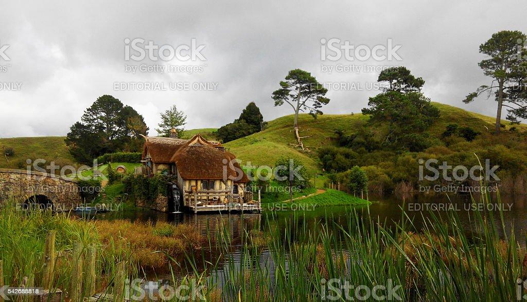Flawless landscape meadow stock photo