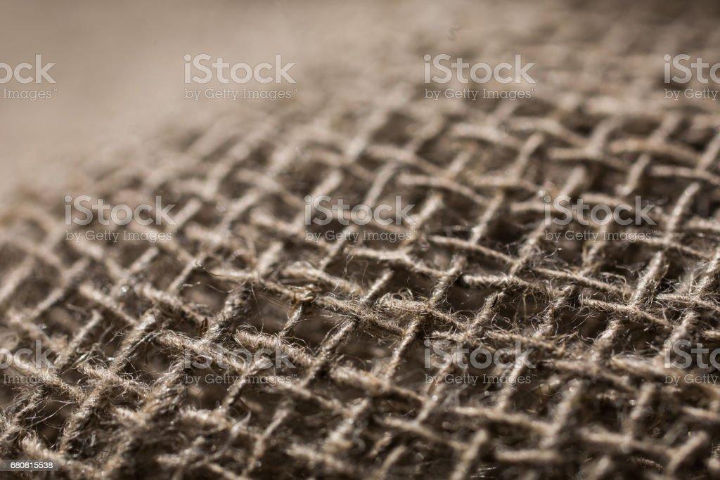 flax fiber, linen fabric, raw material, cloth bags, linen yarn, grunge texture, linen filament stock photo