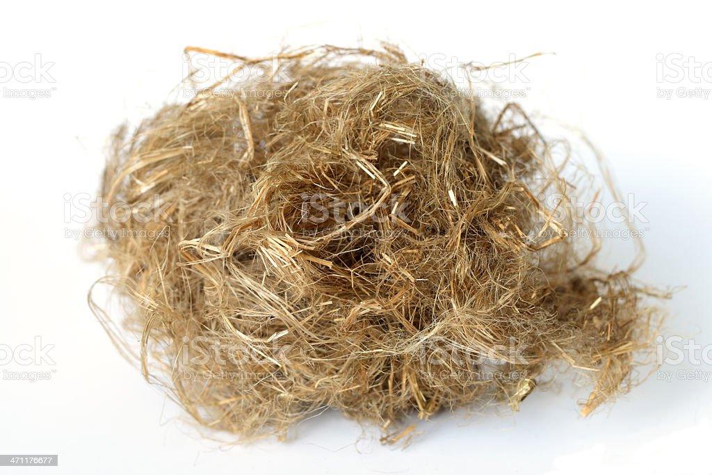 flax oakum royalty-free stock photo