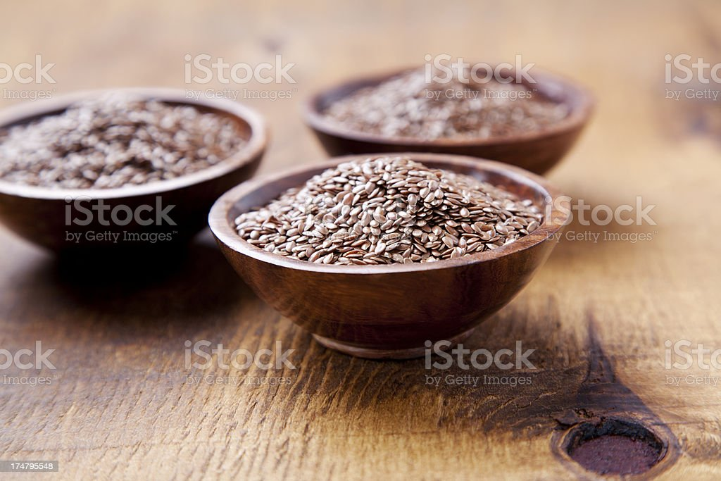 Flax seed royalty-free stock photo