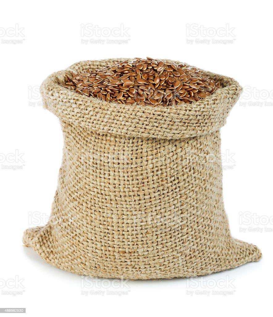 Flax seed stock photo