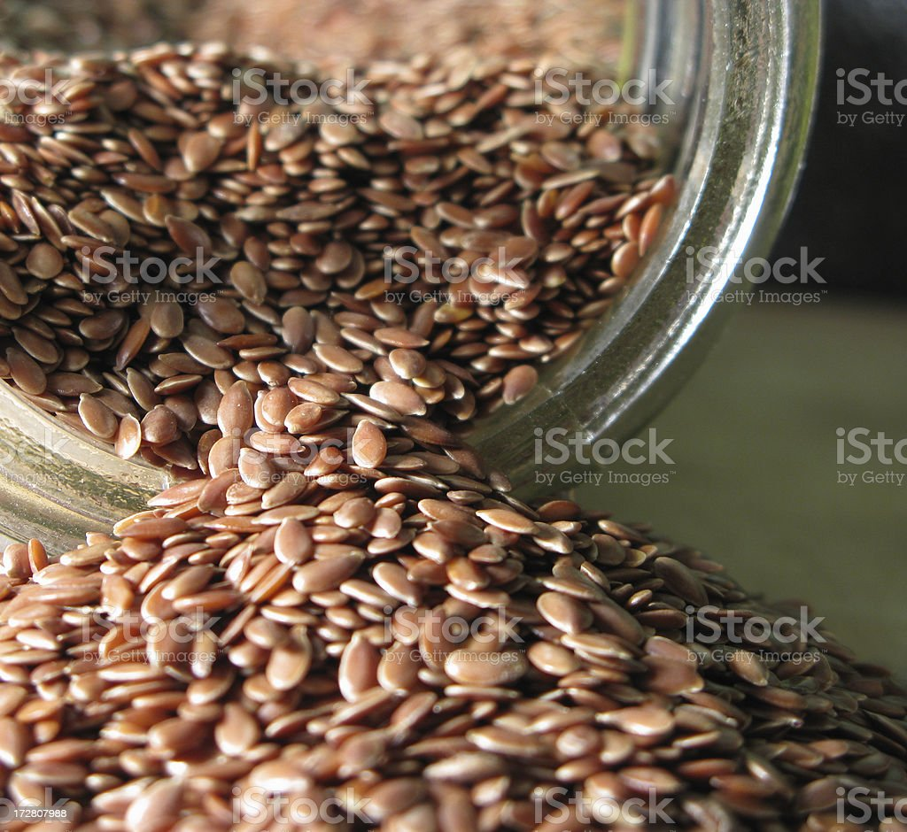 Flax Seeds royalty-free stock photo