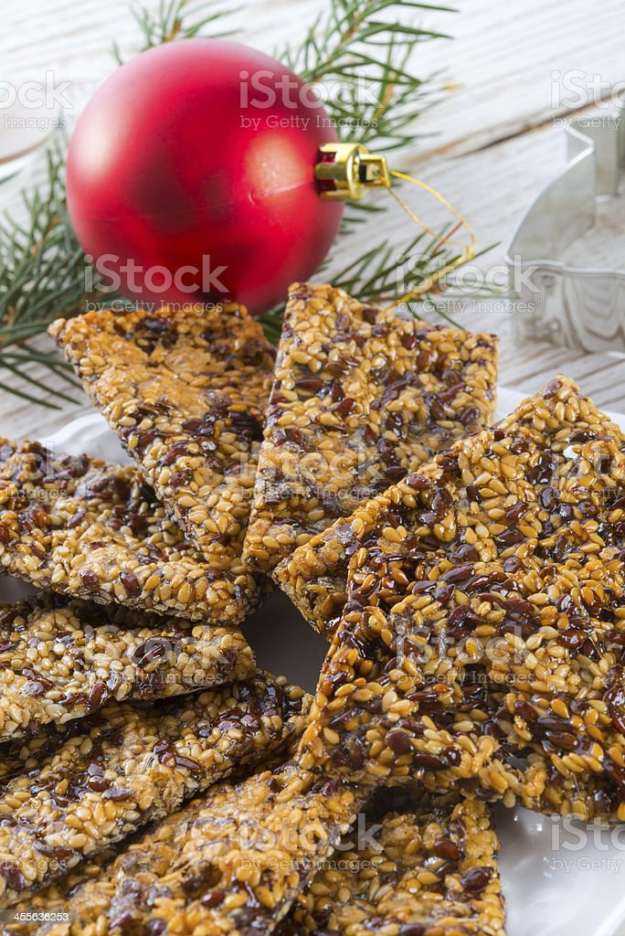 flax Sesame seed candy stock photo