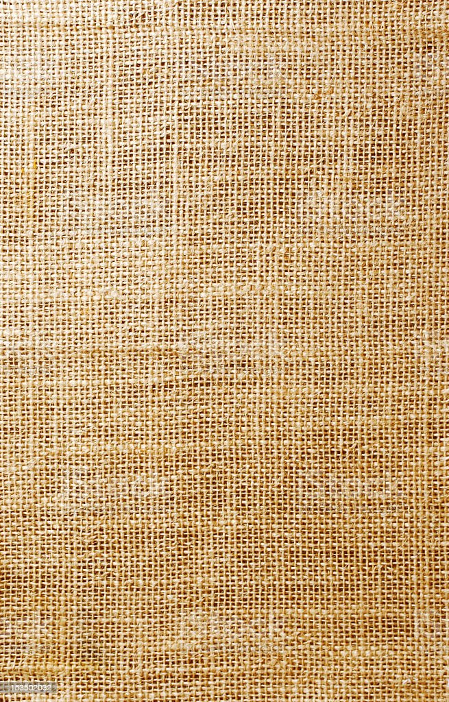Flax texture fabric tangles with needle stock photo