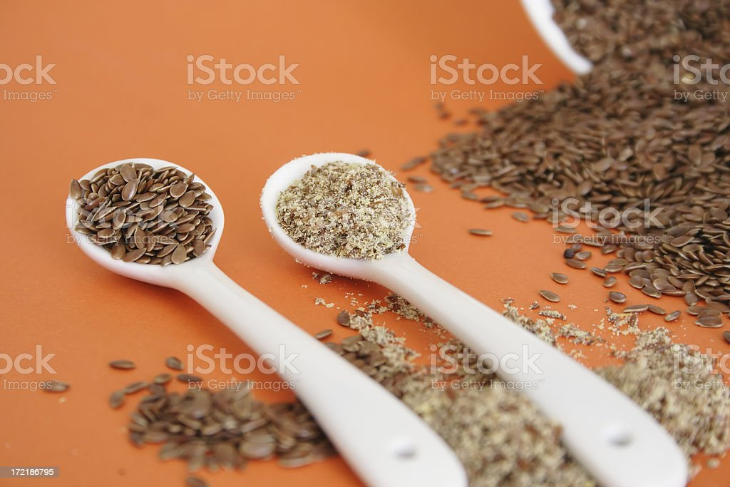 Flaxseed (linseed) royalty-free stock photo