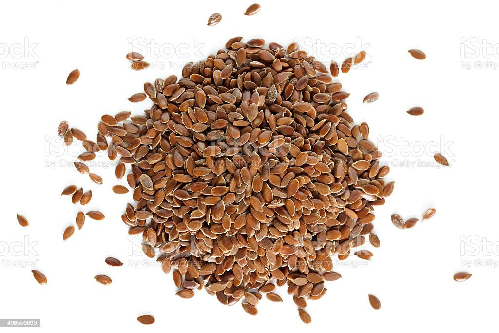 Flaxseeds from above stock photo