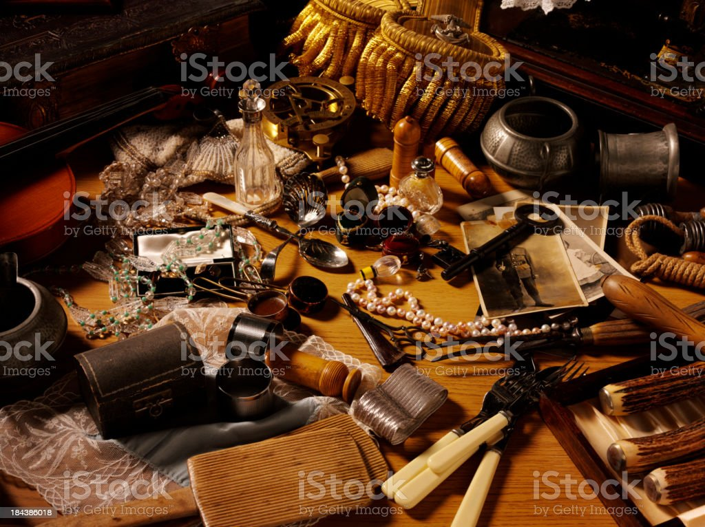 Flea Market and Collectables royalty-free stock photo