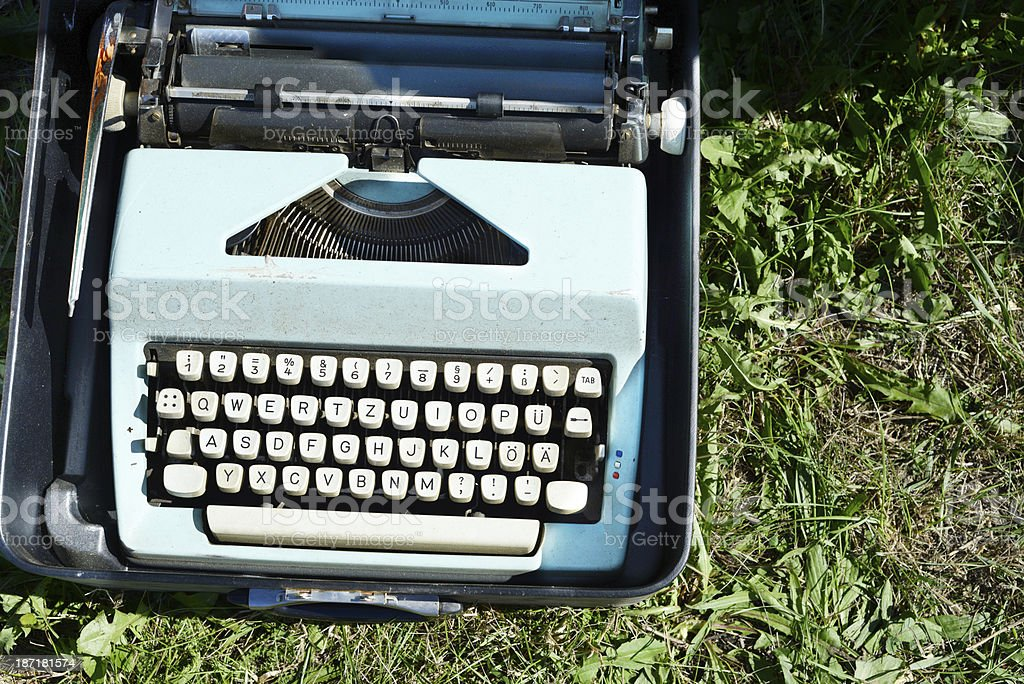 Flea Market antique Vintage typewriter royalty-free stock photo