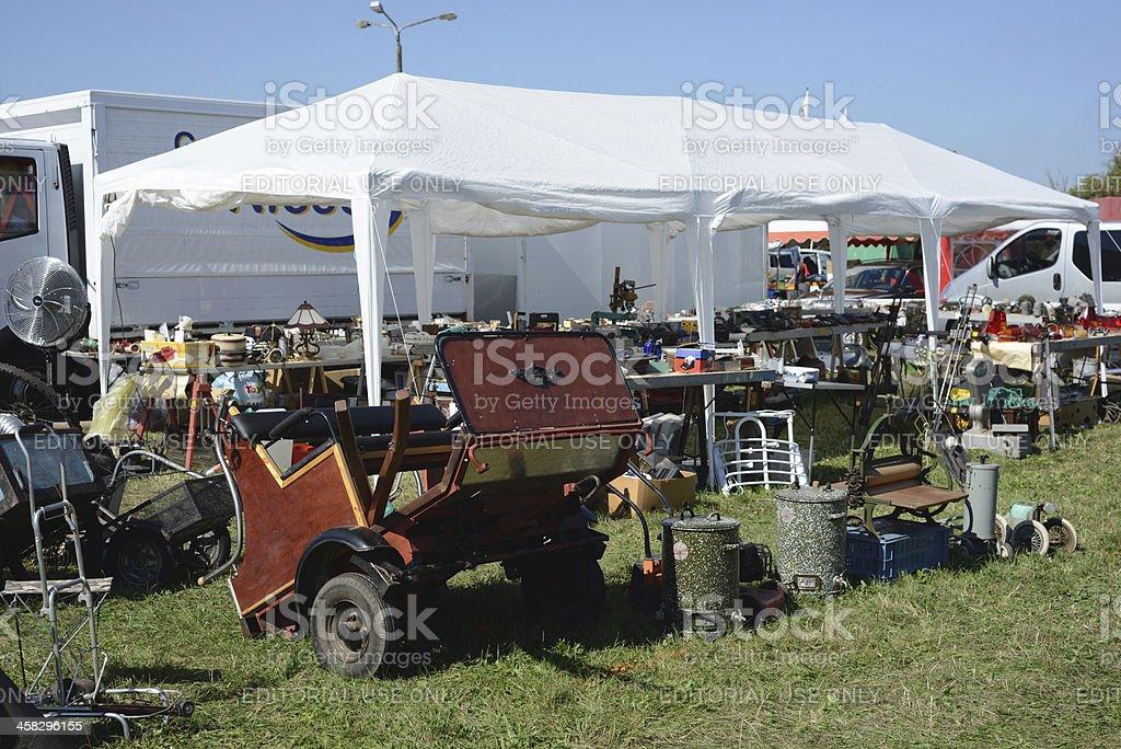 Flea Market at Havelberg (Saxony-Anhalt, Germany) stock photo