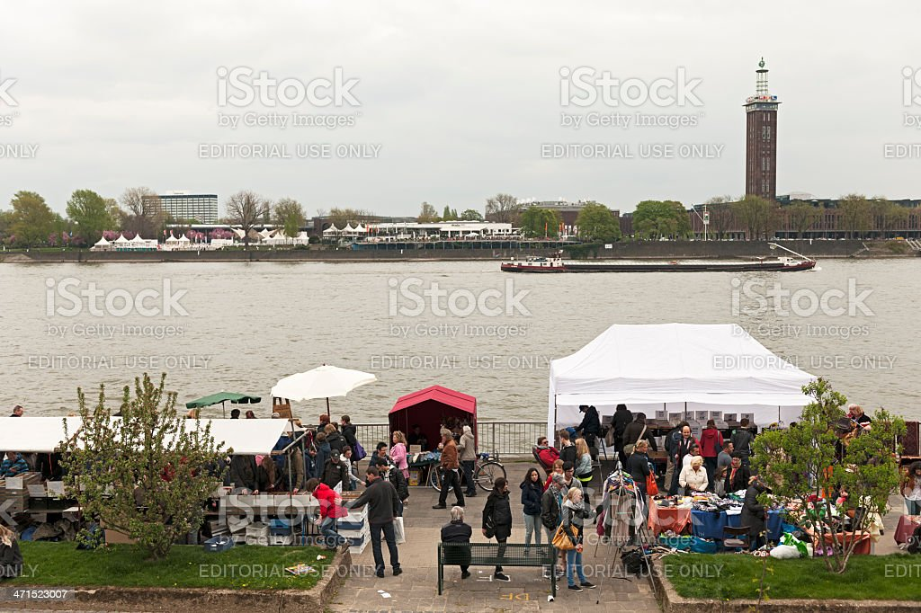 Flea Market in Cologne royalty-free stock photo
