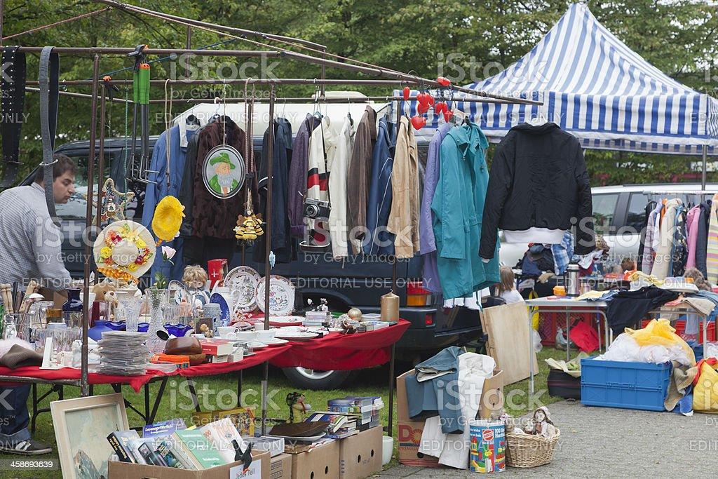 Flea Market in Germany stock photo