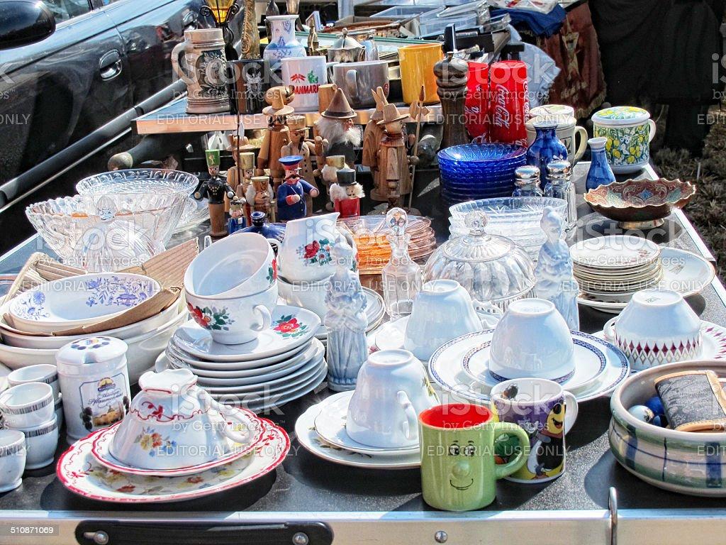 Flea Market in Havelberg (Germany) stock photo