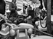 Flea Market in Milan. Black and White