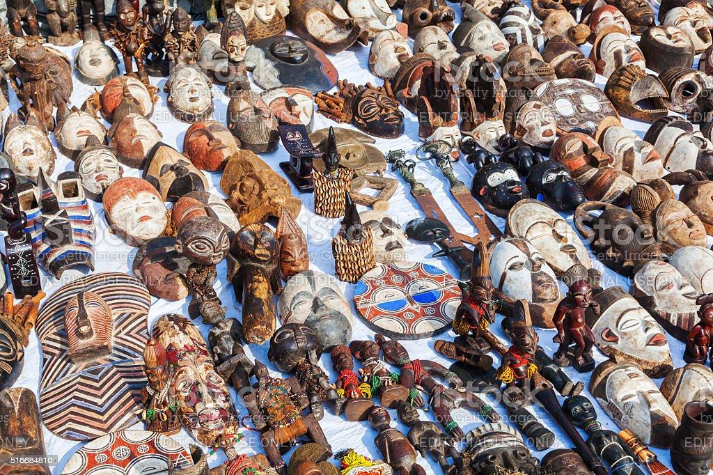 flea market in the Marolles district in Brussels, Belgium stock photo