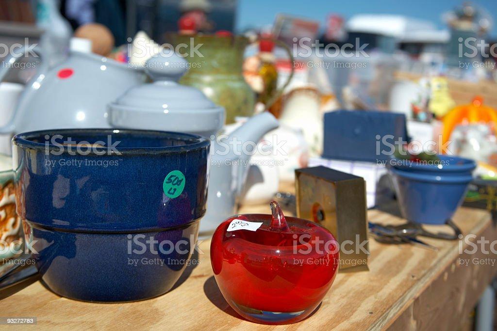 Flea Market or Garage Sale royalty-free stock photo