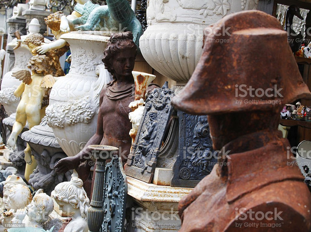 Flea Market, Paris stock photo