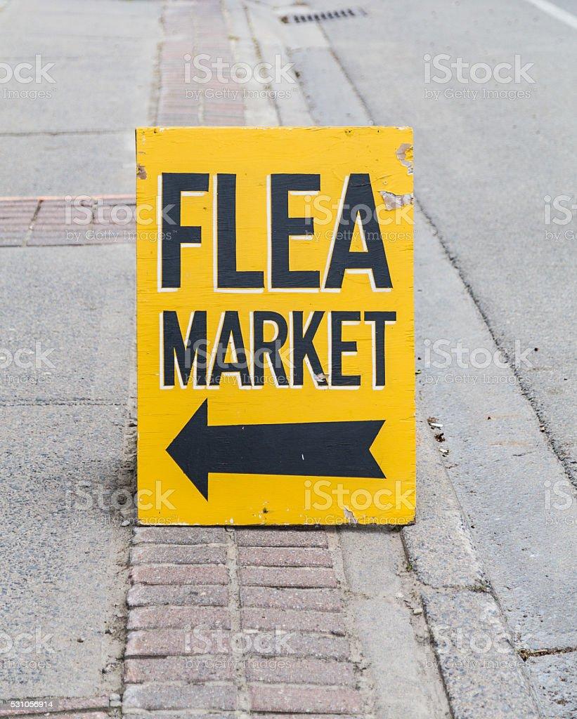 Flea Market Sign stock photo