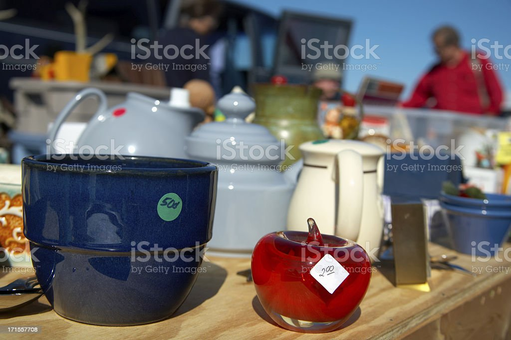 Flea Market Treasures stock photo