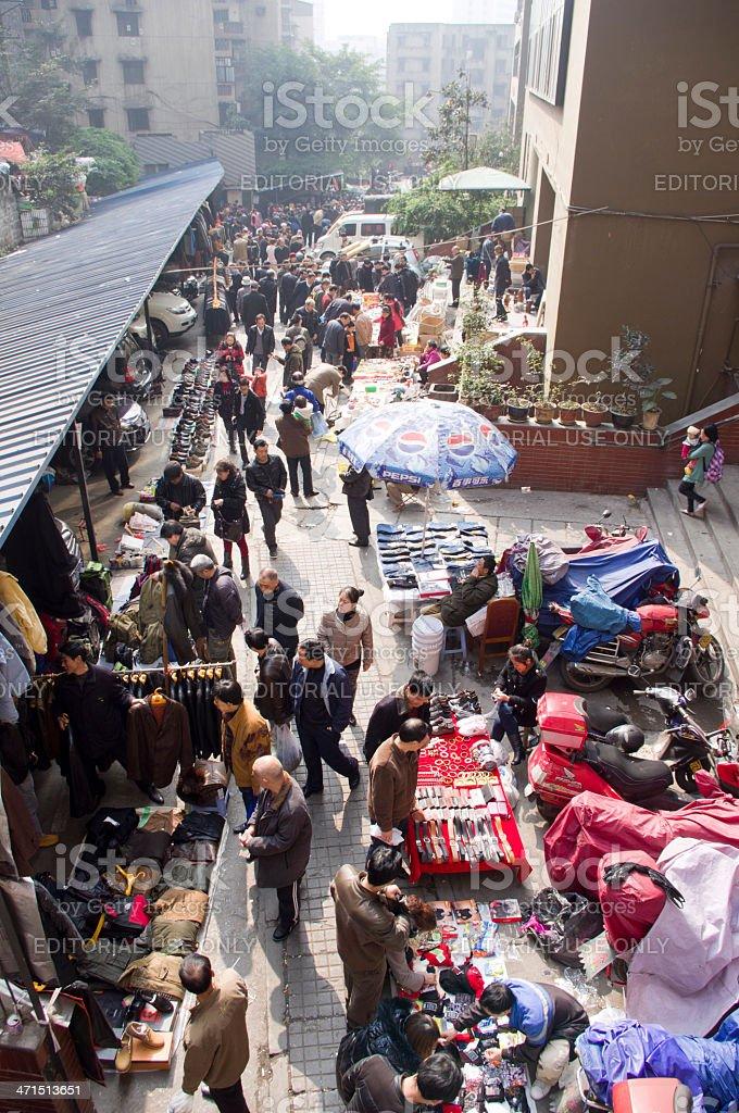 flea markets in china. stock photo