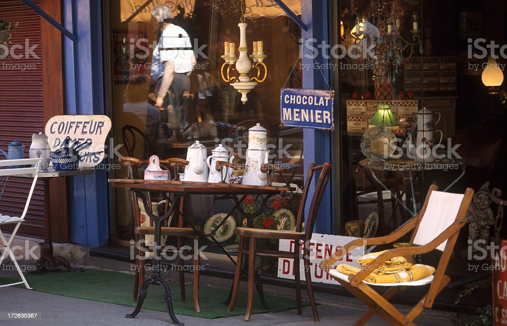 Puces De St-Ouen Paris flea market stock photo
