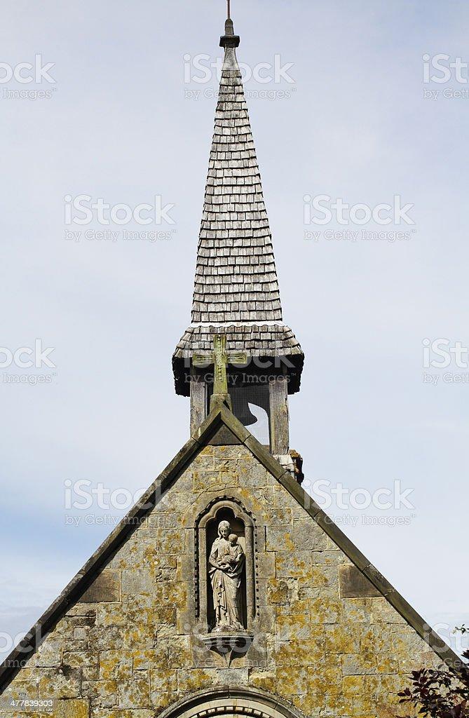Fleche on Chapel of Saint Mary Godstone Surrey stock photo