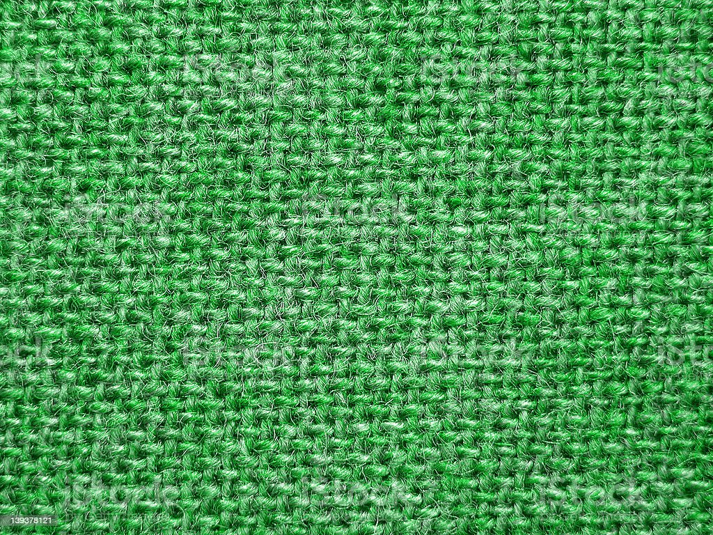 Flecked woven fabric green royalty-free stock photo