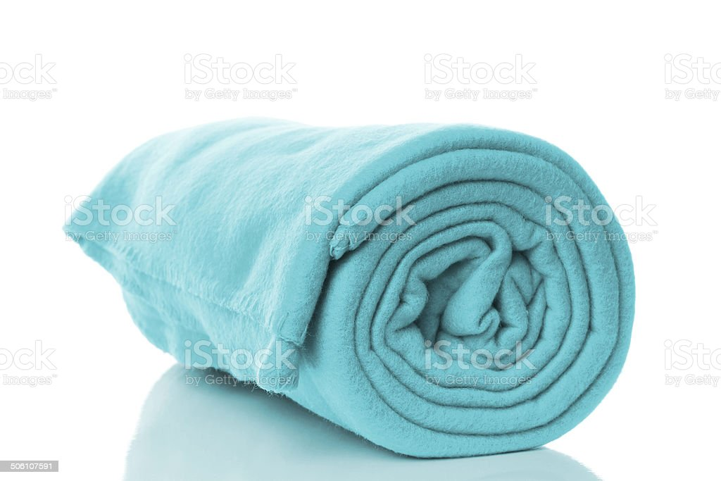 fleece blanket stock photo