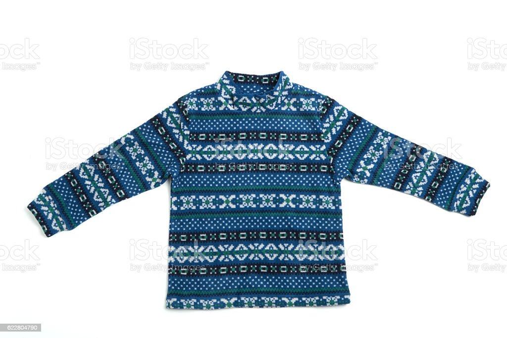Fleece clothes stock photo