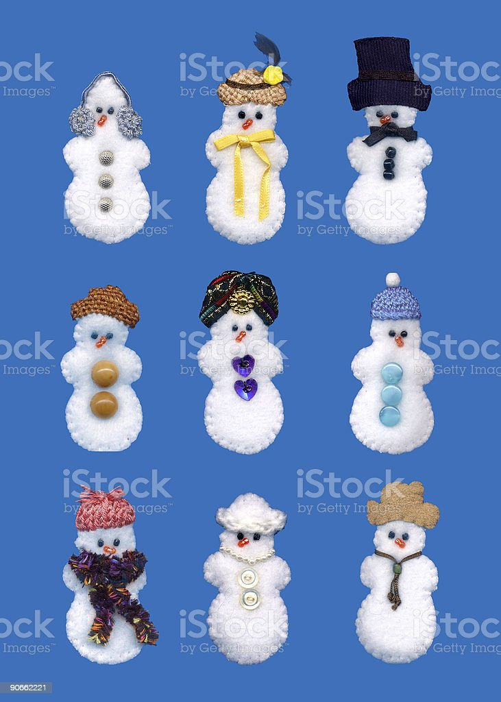 fleece snowmen royalty-free stock photo