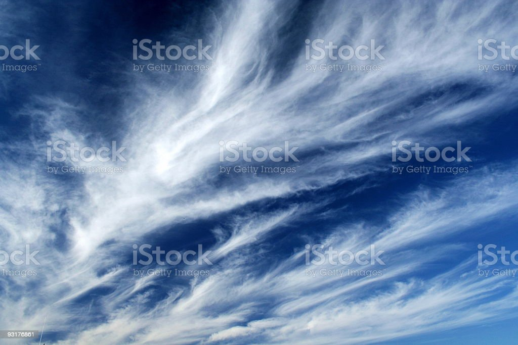 Fleecy clouds royalty-free stock photo