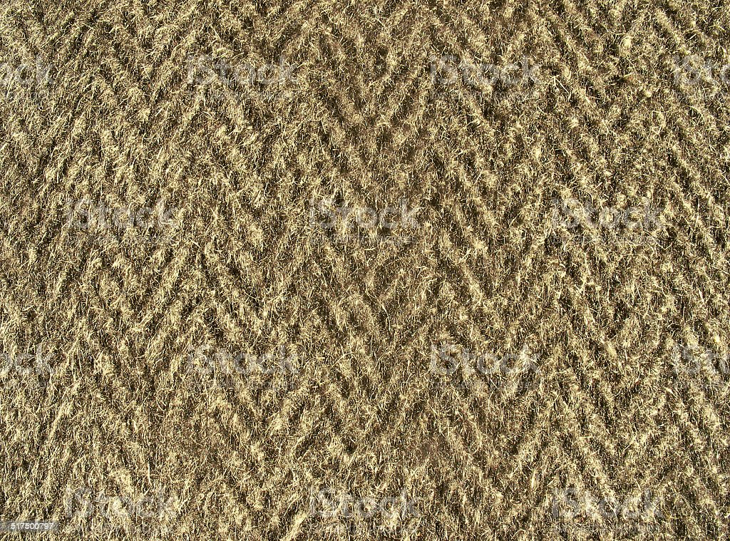 Fleecy fabric texture - thick brown woolen cloth stock photo