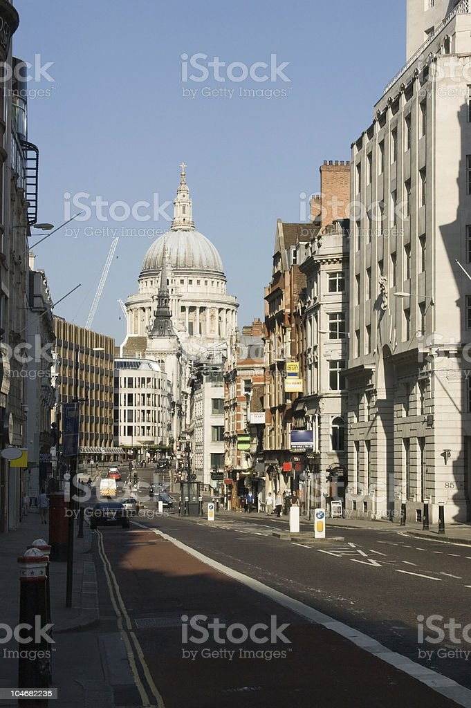 Fleet Street and St Paul's, London stock photo