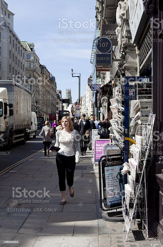 Fleet Street, City of London stock photo