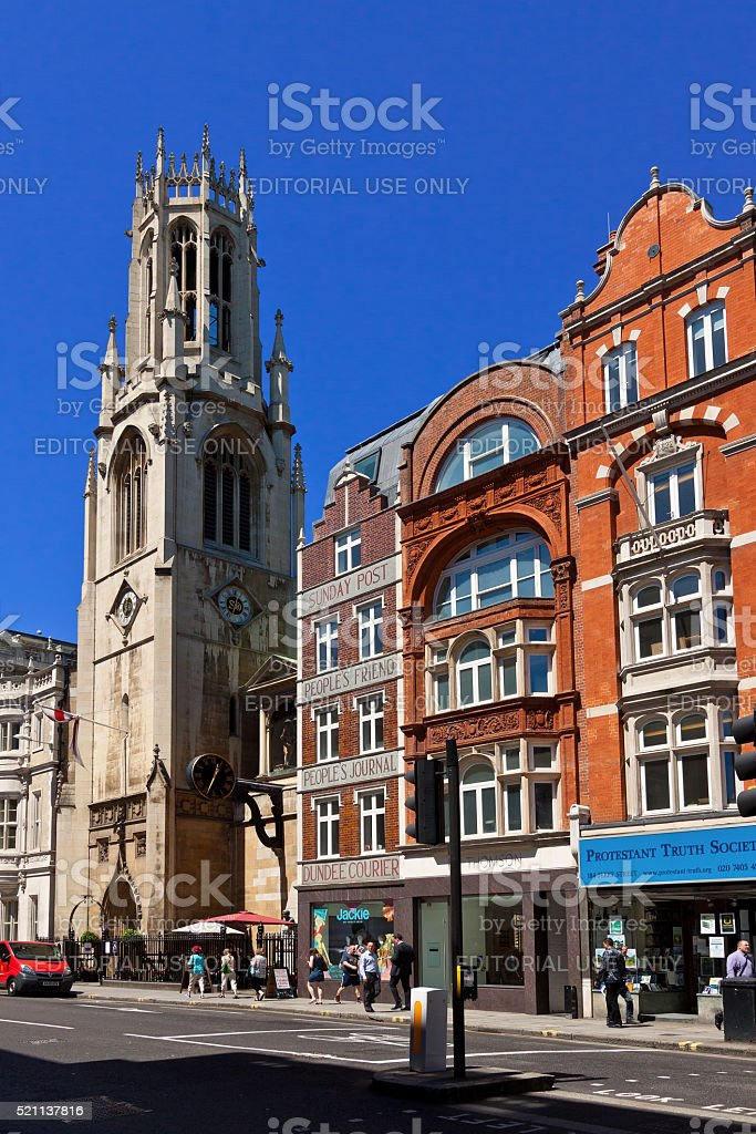 Fleet Street, London, England, United Kingdom. stock photo