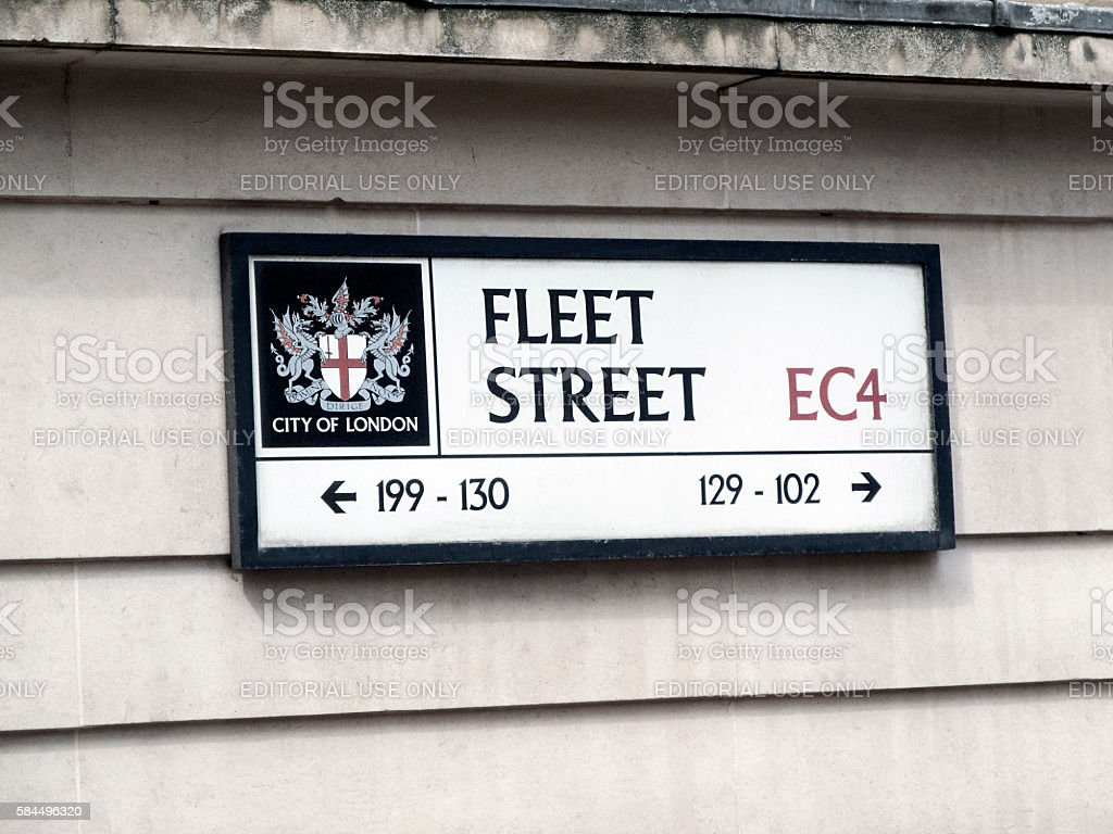 Fleet Street - London stock photo