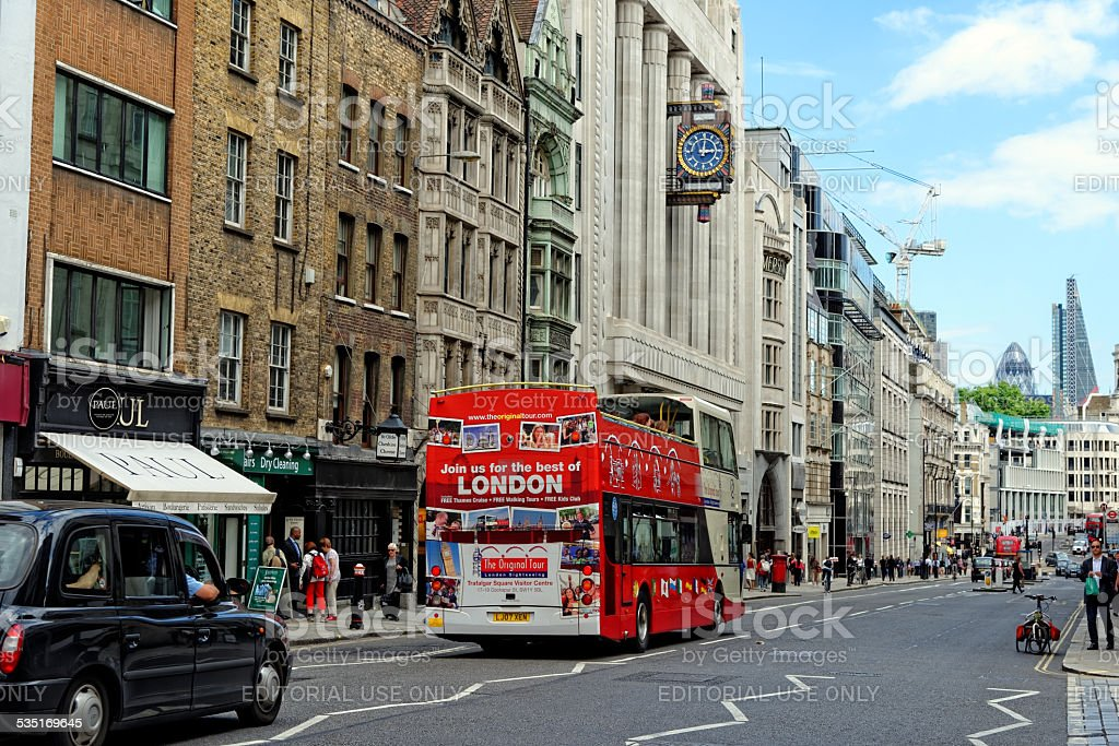 Fleet street stock photo