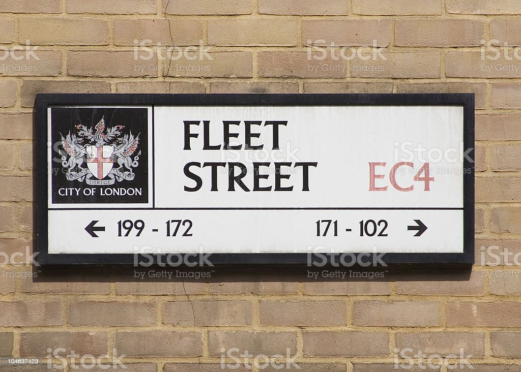 Fleet Street Sign stock photo
