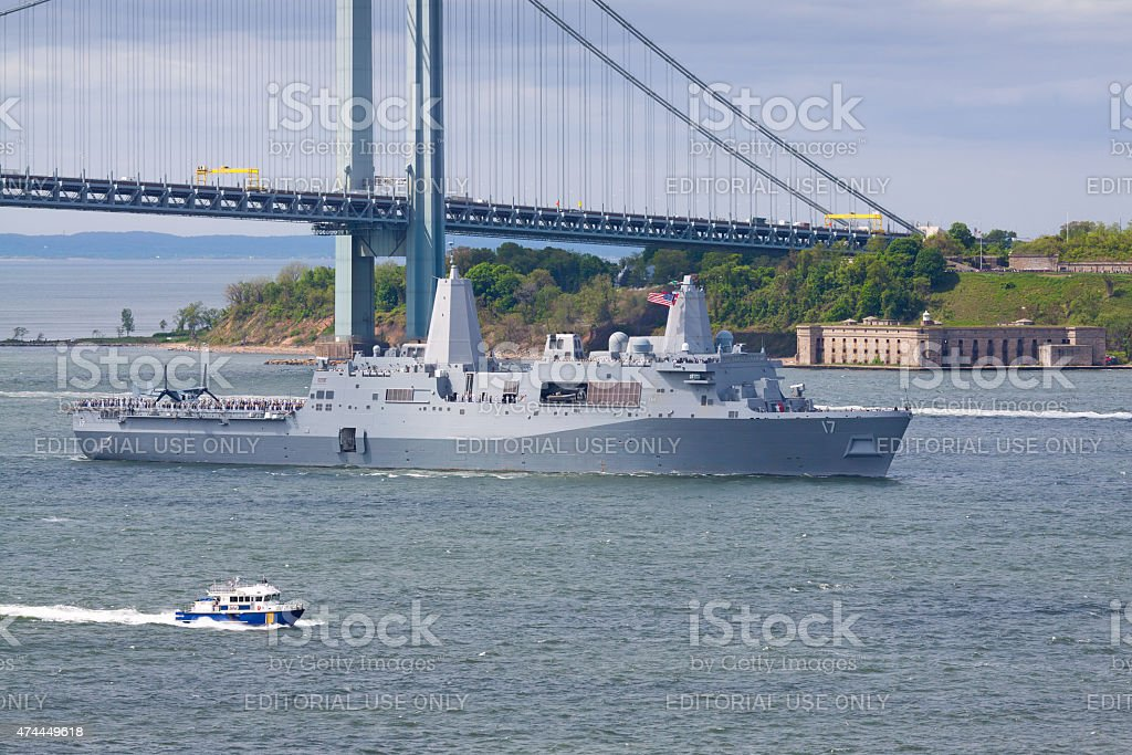 NYC Fleet Week 2015, USS San Antonio (LPD 17). stock photo
