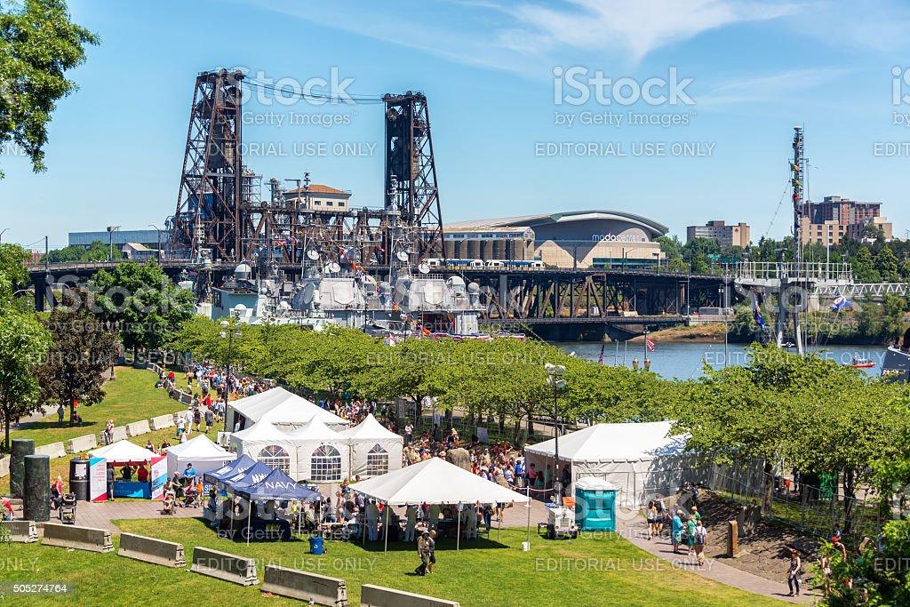 Fleet Week in Portland Oregon stock photo