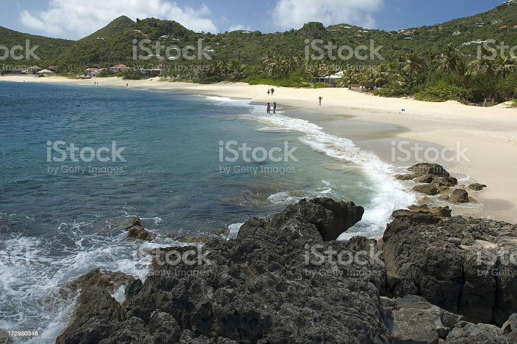 'Flamands Beach , St. Barthelemy' stock photo