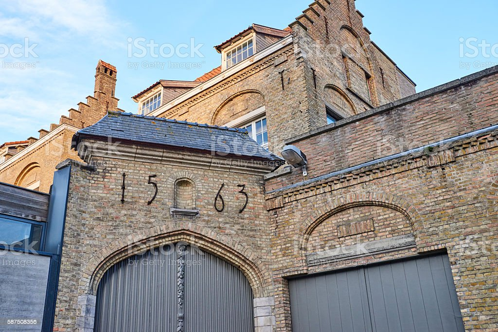 Flemish Style Building in Ypres stock photo