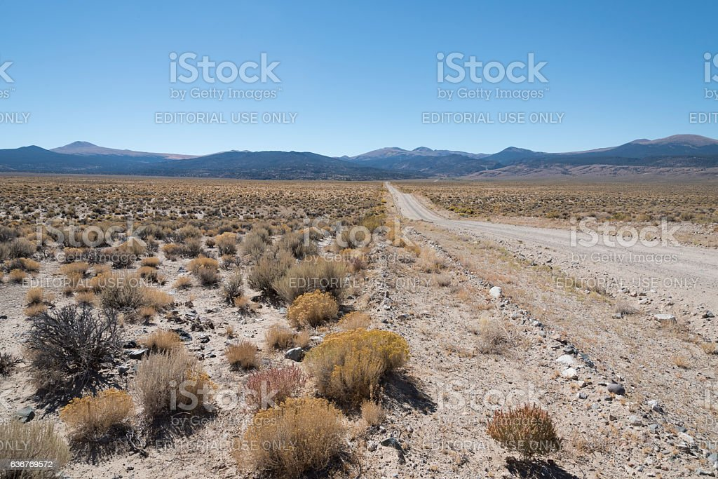 Fletcher Valley Earthquake Epicenter stock photo