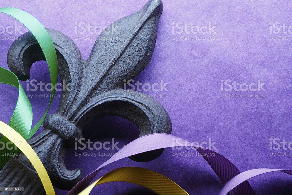 Fleur De Lys & Ribbon stock photo