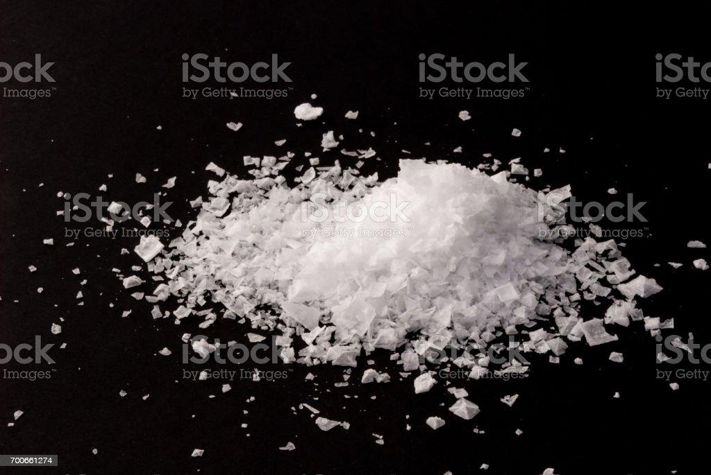 Fleur de sel - sea salt stock photo