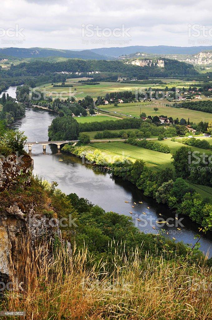 Fleuve et rivière, Canoë, Vue en plongée, Vue aérienne, Paysage stock photo