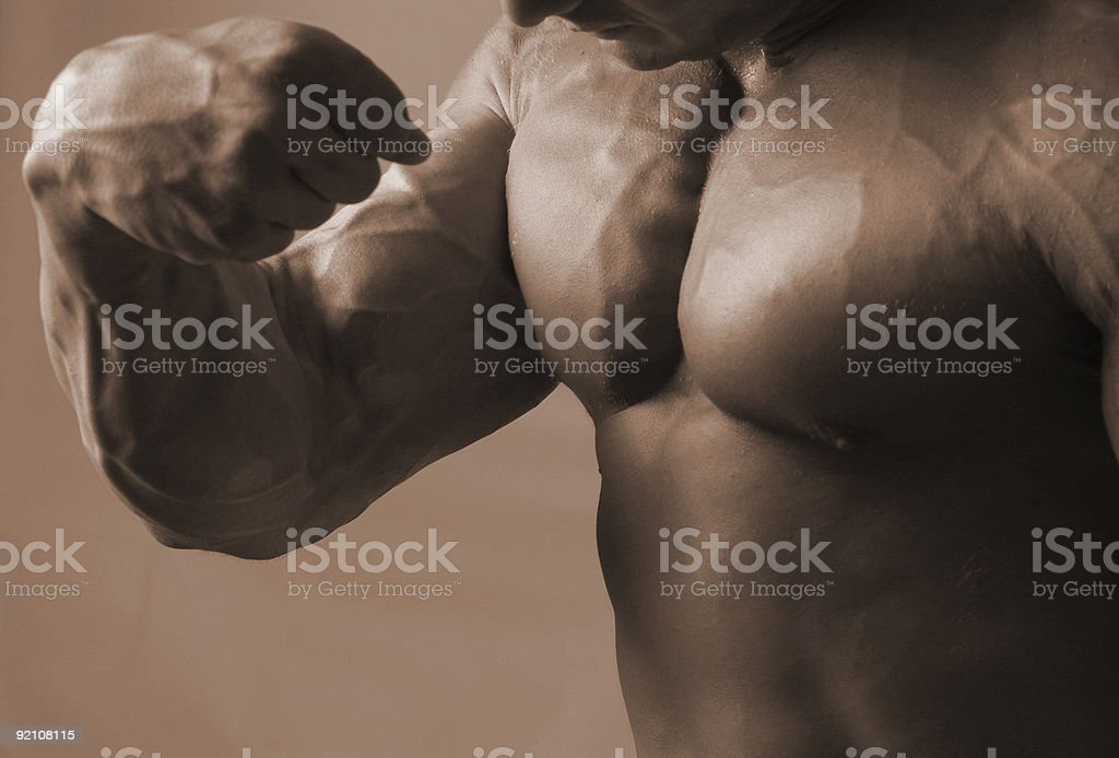 flex of a bicep royalty-free stock photo