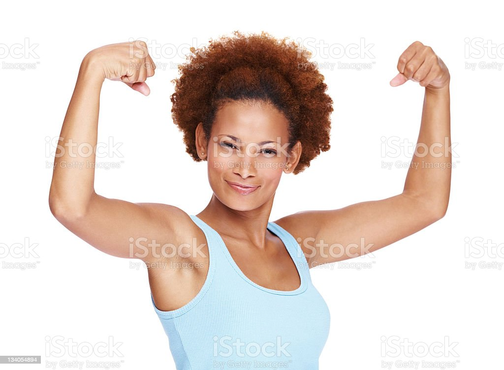 Flex those arms royalty-free stock photo